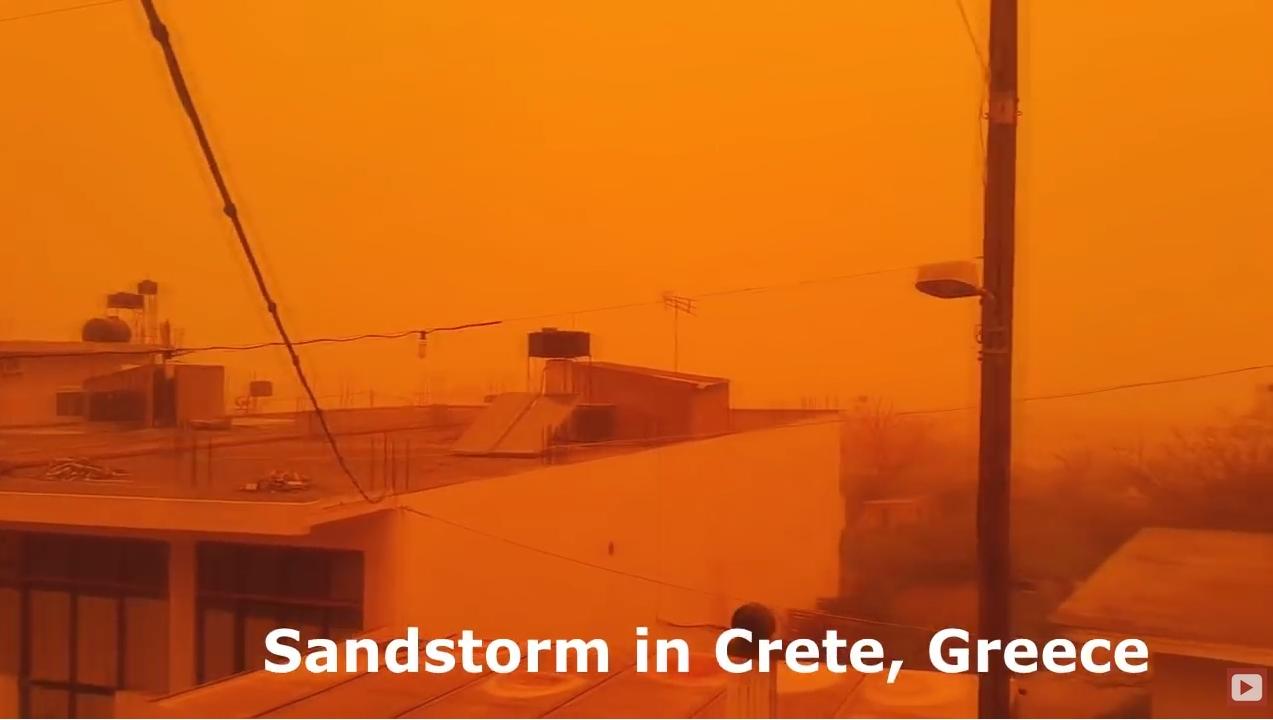 Wetternet Sand Und Staubsturm über Kreta